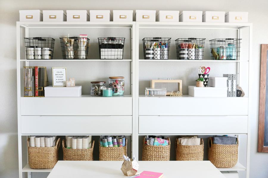 Simple & Stylish Craft Studio Organization