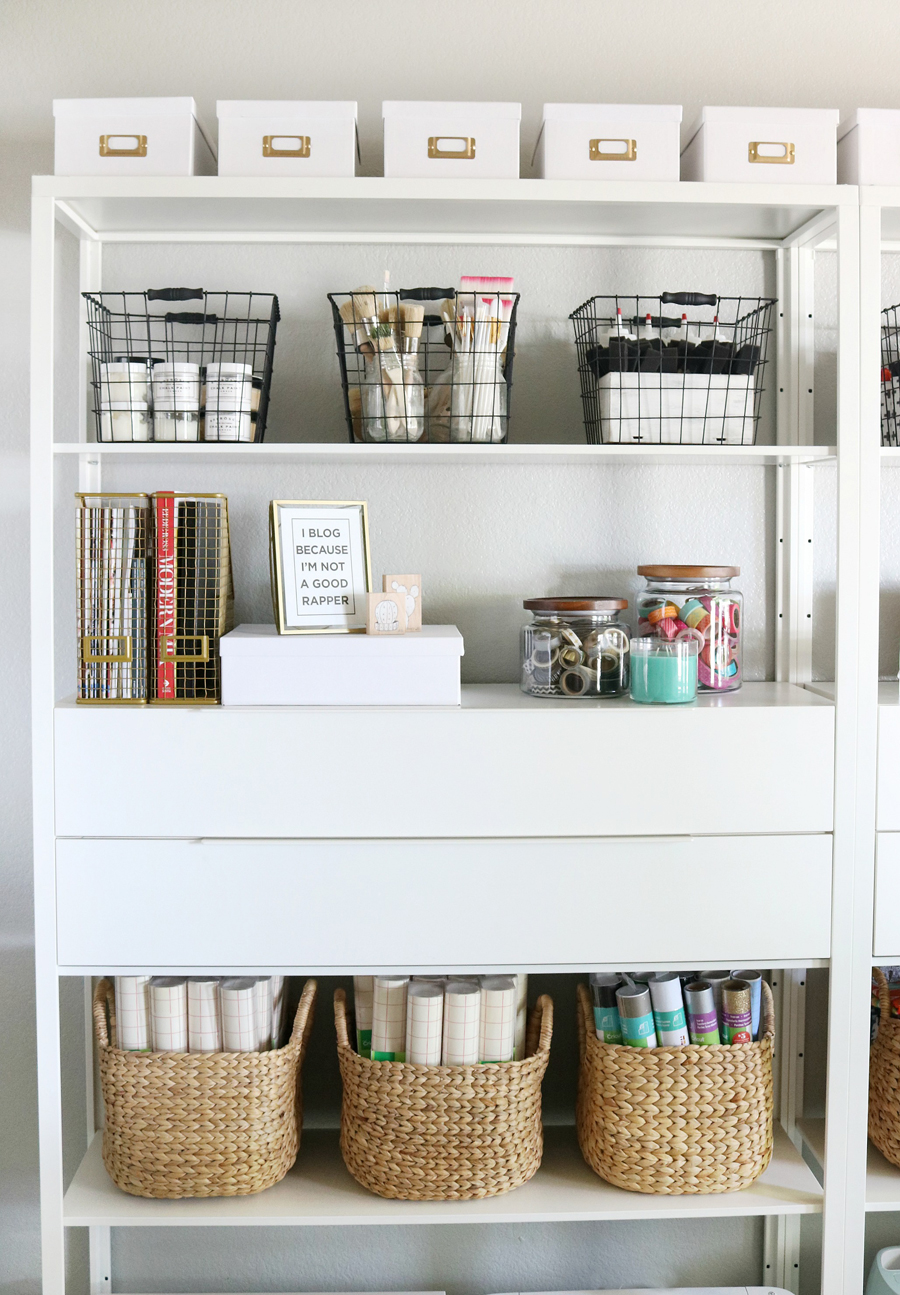 Simple & Stylish Craft Studio Organization