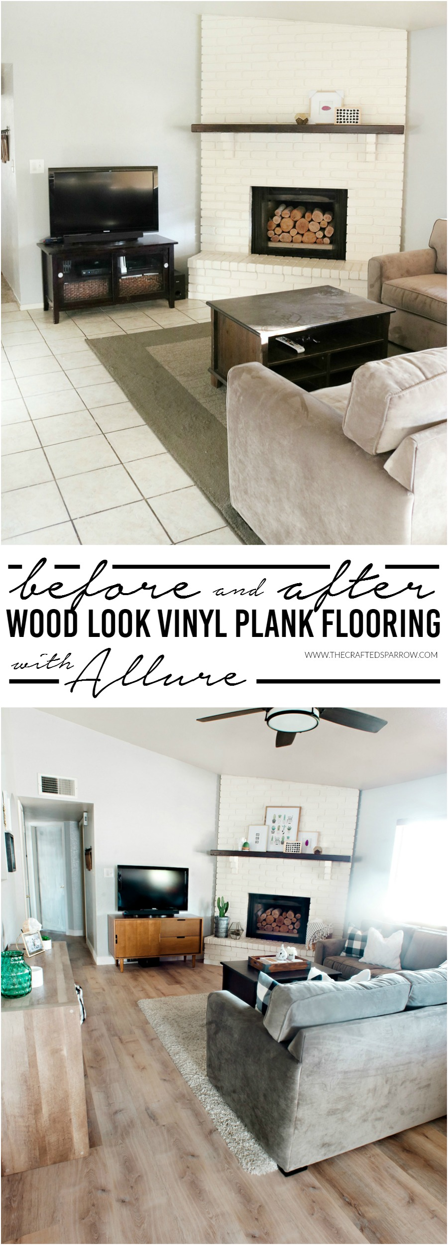 Before & After Allure Flooring