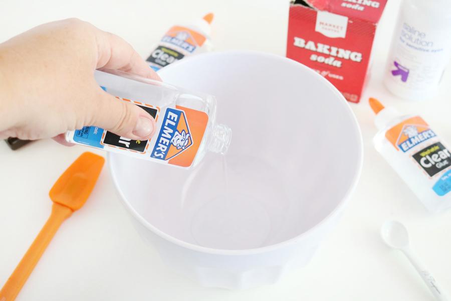 Step 1 - Lemonade Scented Floam Slime