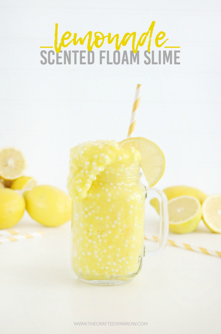 Lemonade Scented Floam Slime