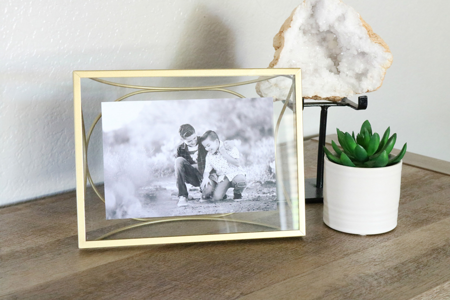 Family Room Refresh - BHGLiveBetter Gold Frame from Walmart