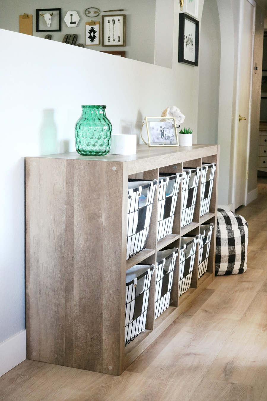 Family Room Refresh - BHGLiveBetter Cube Organizer with Metal Baskets