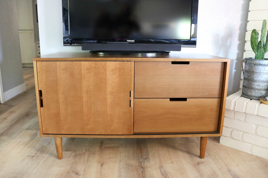 Family Room Refresh, Mid-Century Modern Credenza from Better Homes and Gardens