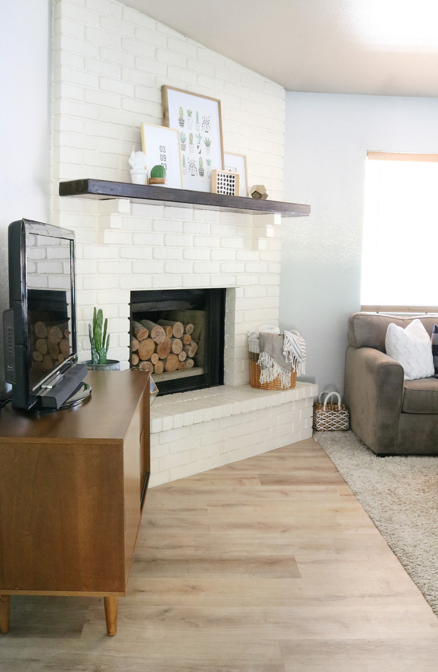 Family Room Refresh - Fireplace Decor