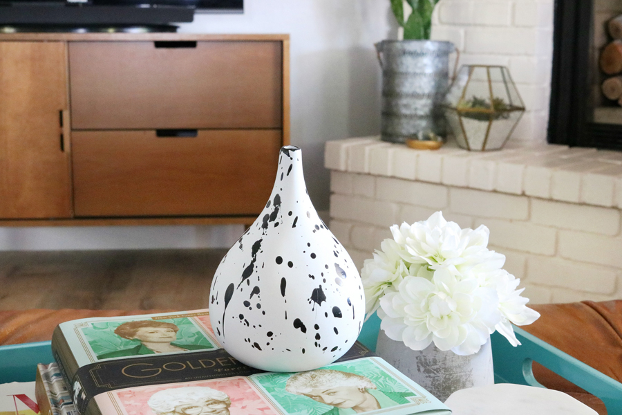 Family Room Refresh - DIY Splatter Vase