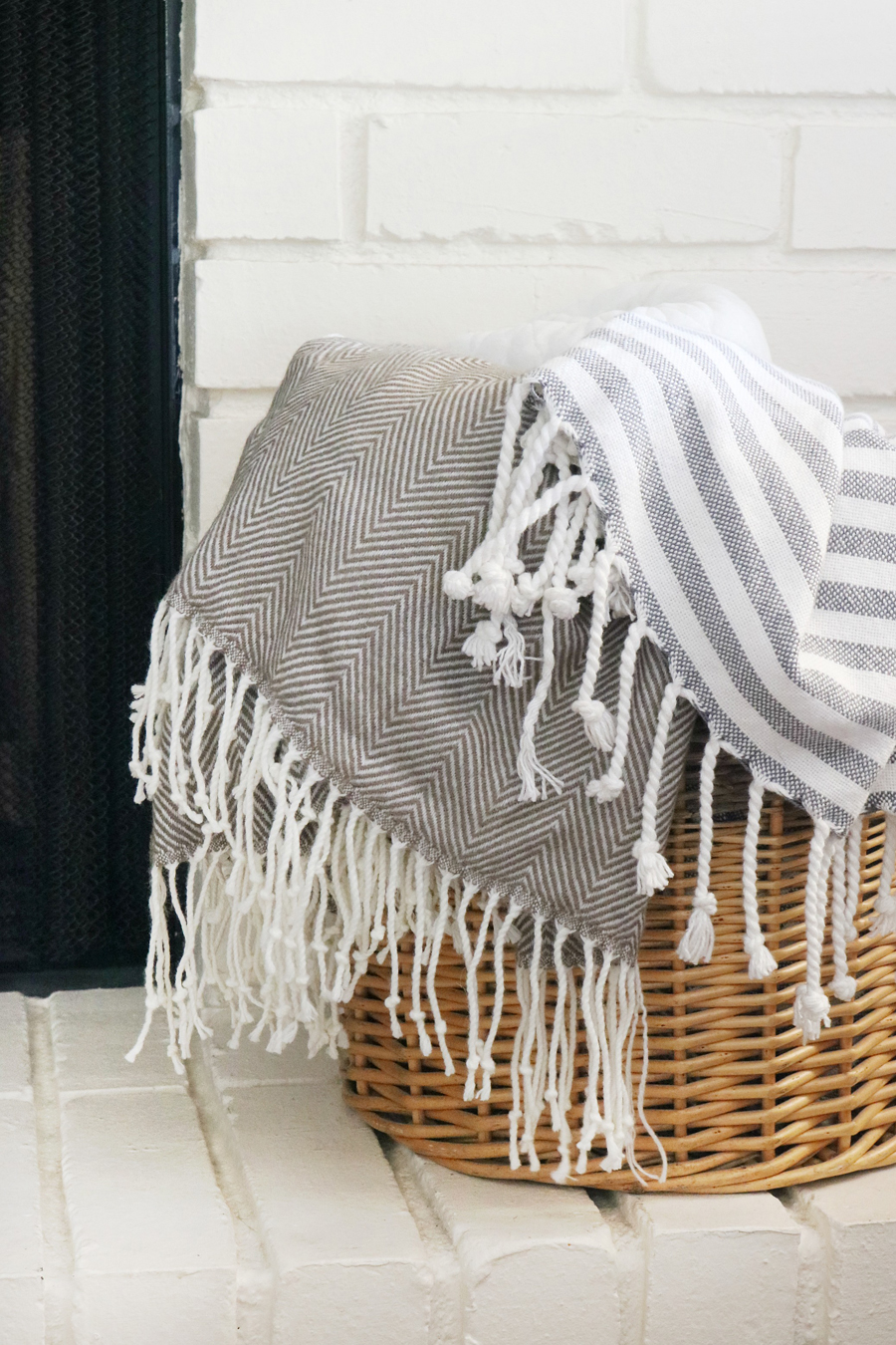 Family Room Refresh - BHGLiveBetter Fringe Throw from Walmart