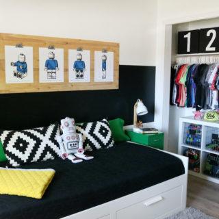 Boys Room Easy Closet Organization and Decor Ideas
