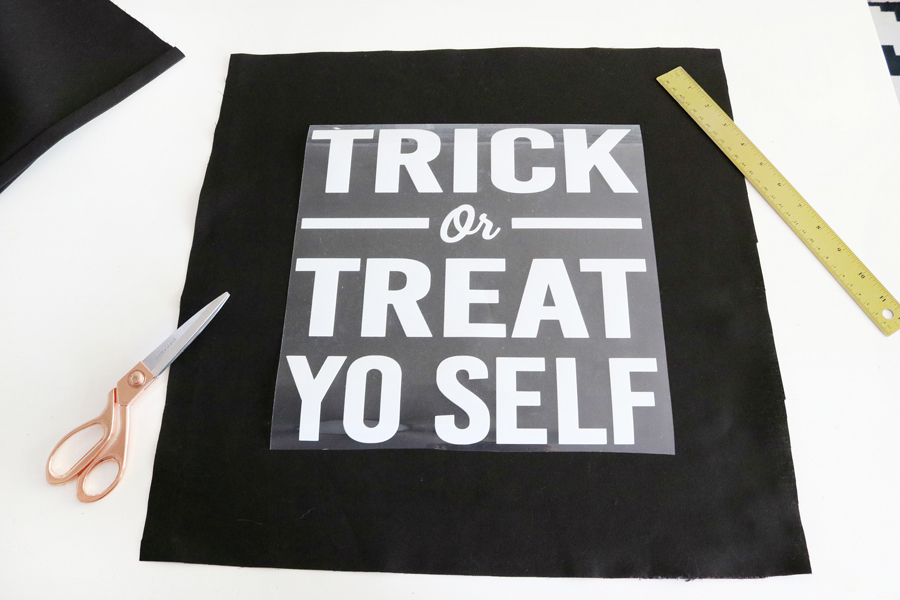 Trick or Treat Yo Self Halloween Pillow