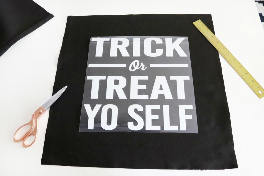 Trick or Treat Yo Self Halloween Pillow