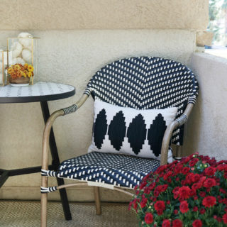 Black & White Fall Porch