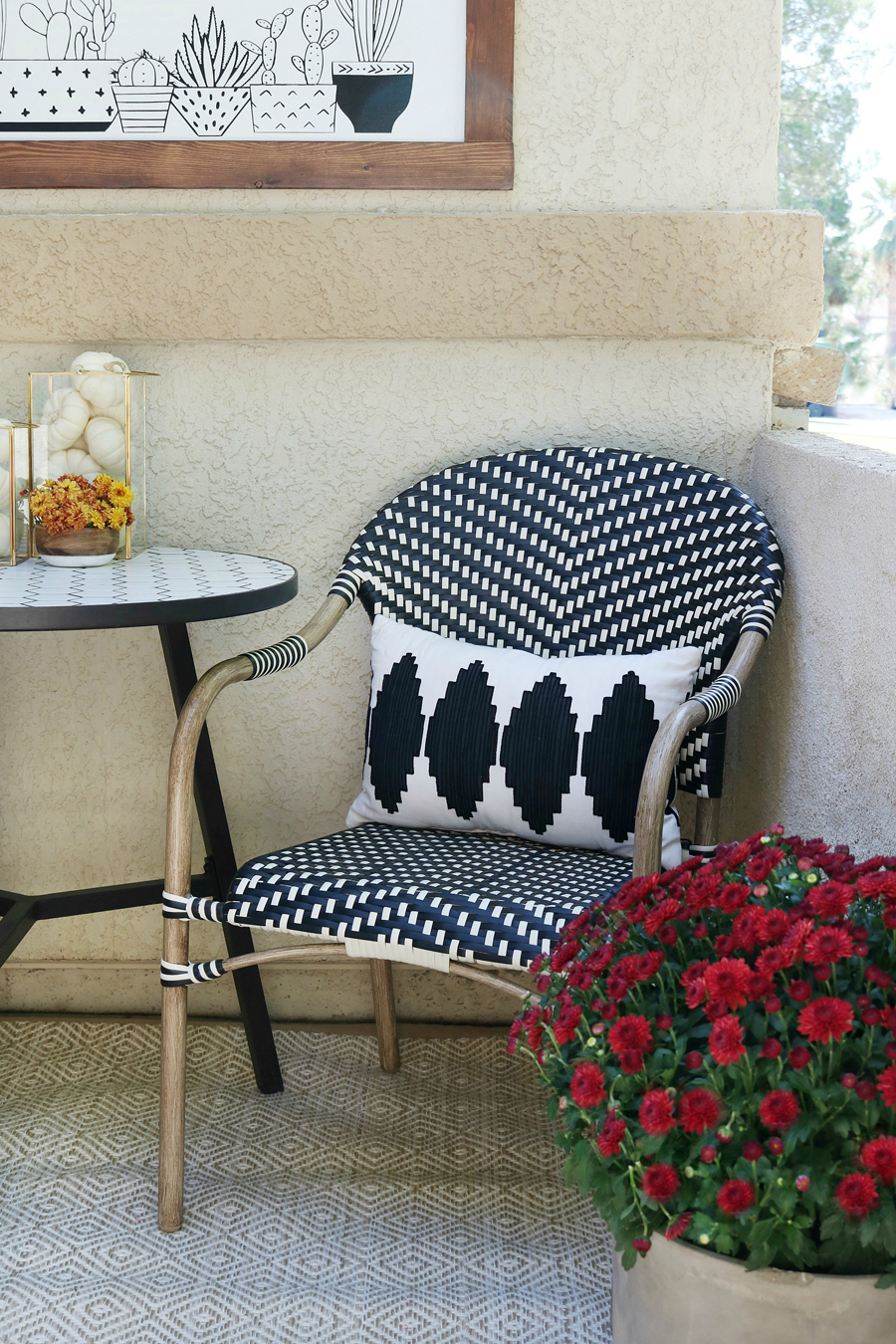 BHG Live Better black and white Parisian bistro chairs