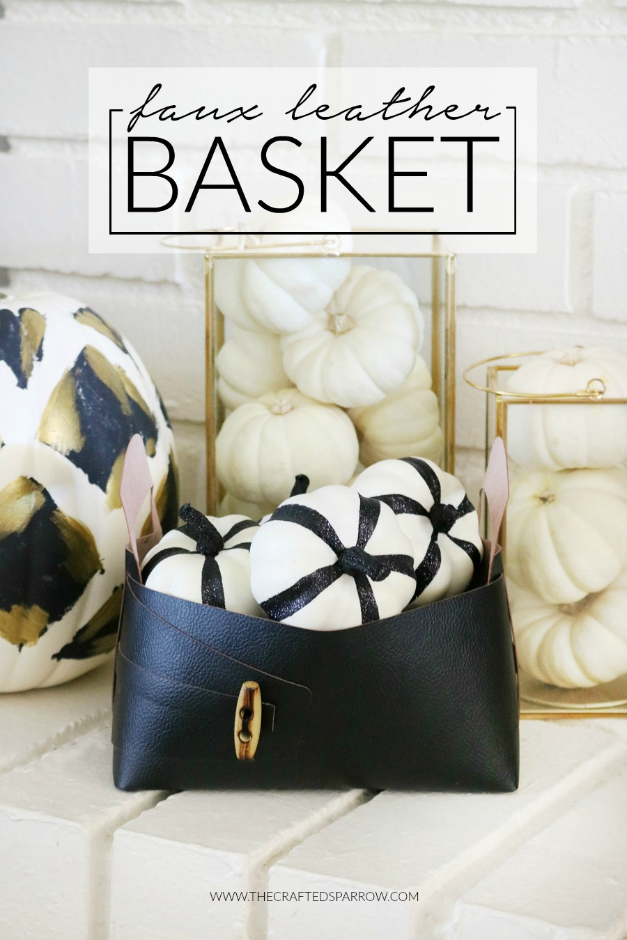 Cricut Maker Faux Leather Basket