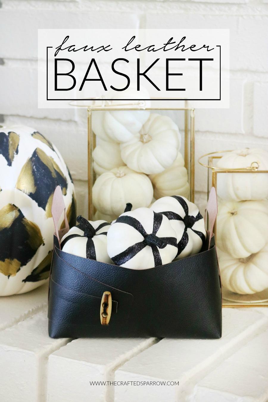 Cricut Maker Faux Leather Basket