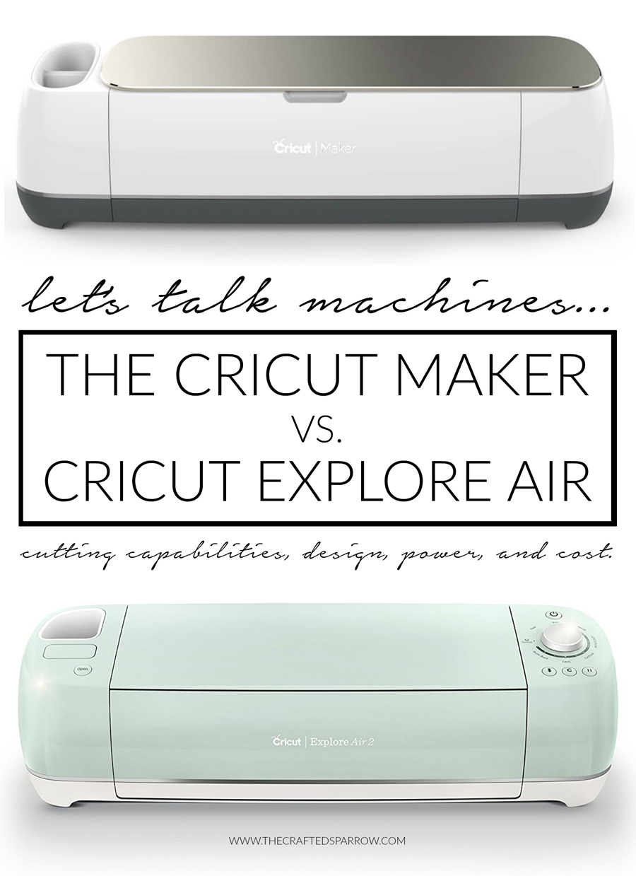 Cricut Maker VS Cricut Explore Cutting Machines