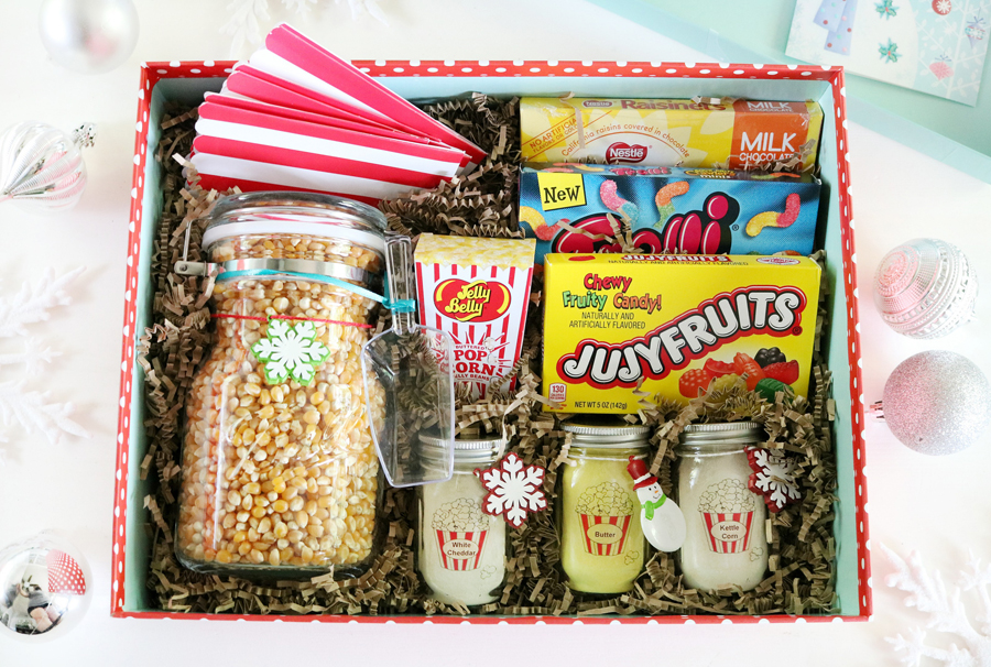 Fun popcorn movie night gift idea with Ball Jars!