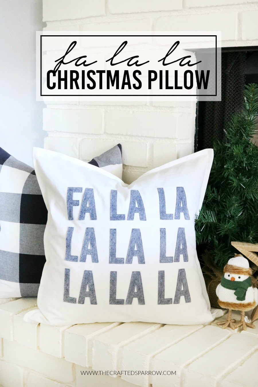 DIY Fa La La Christmas Pillow
