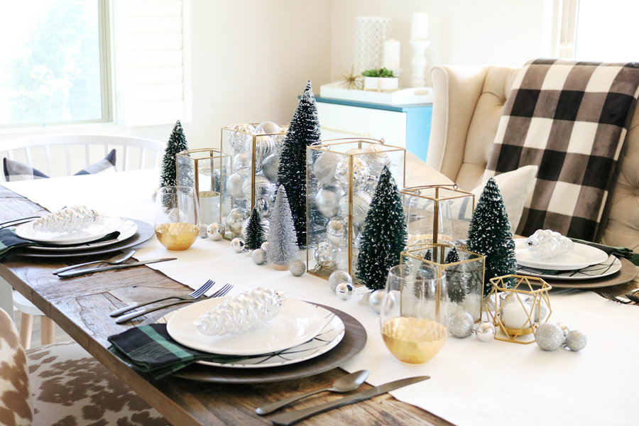 Superbe Simple And Modern Christmas Dining Table Ideas