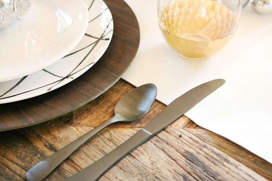 Simple and Modern Christmas Dining Table Ideas - BHG Live Better black silverware