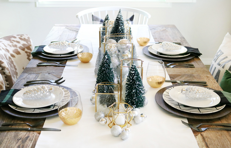 Marvelous Simple Modern Christmas Dining Table Ideas Home Interior And Landscaping Ologienasavecom