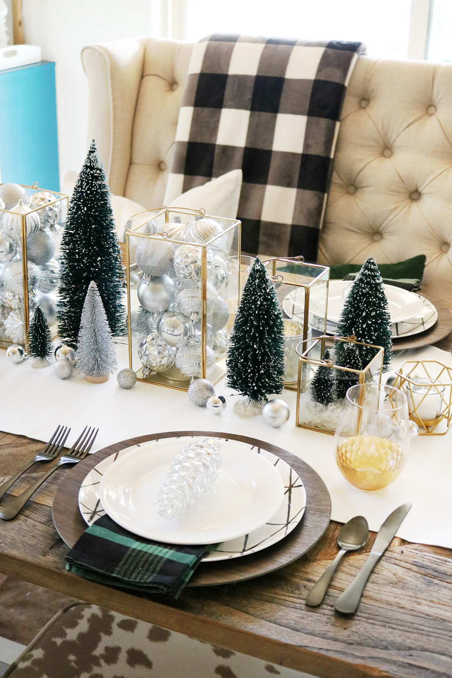Pleasant Simple Modern Christmas Dining Table Ideas Home Interior And Landscaping Eliaenasavecom