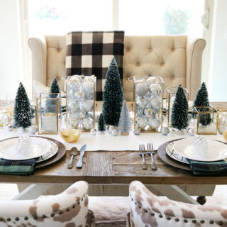 Simple & Modern Christmas Dining Table Ideas