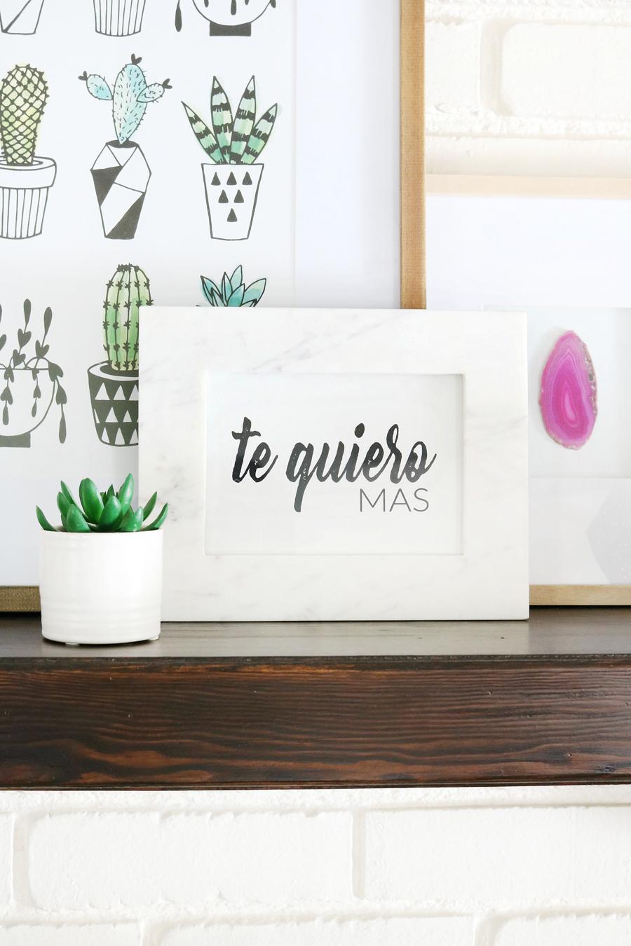 Te Quiero Mas Valentine's Day Printable