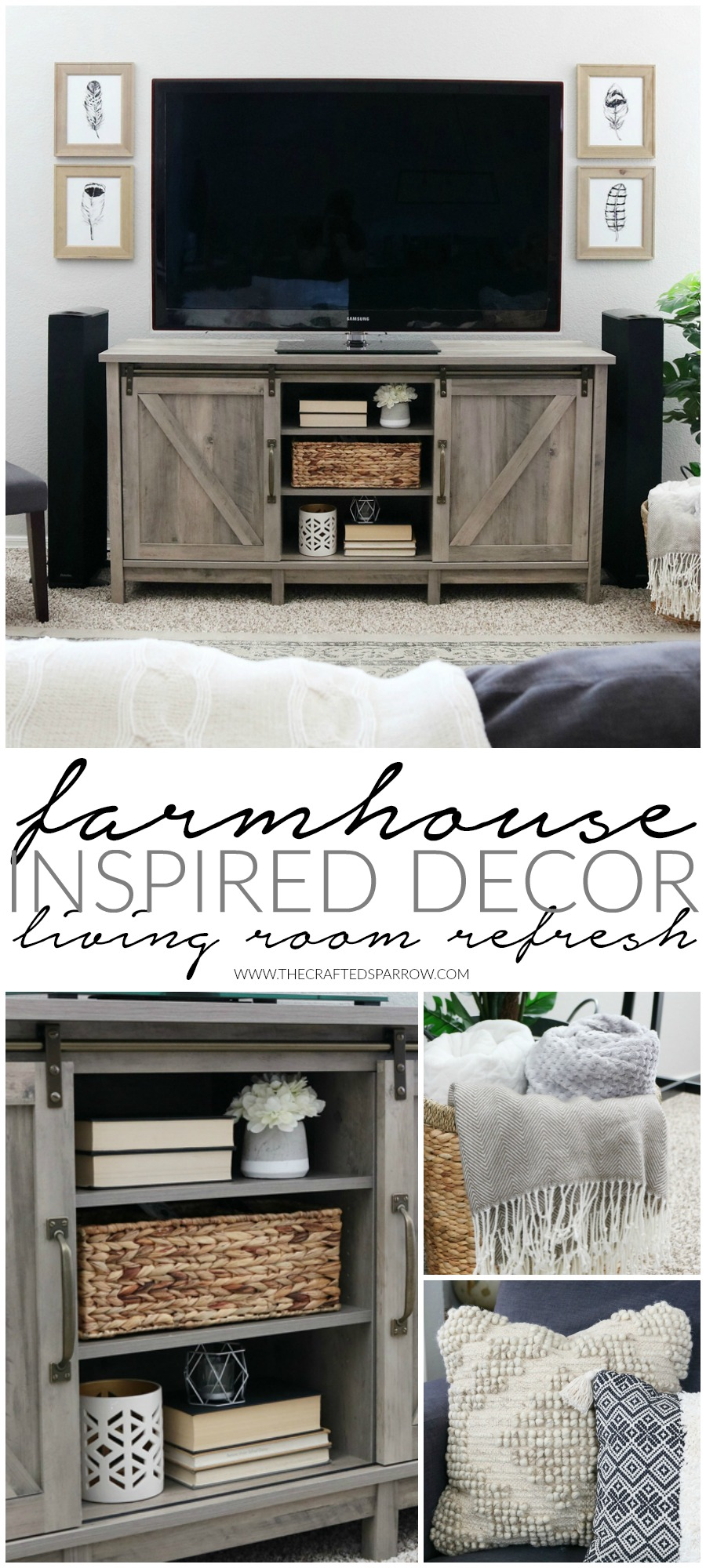 Easy Farmhouse Inspired Decor Living Room Refresh