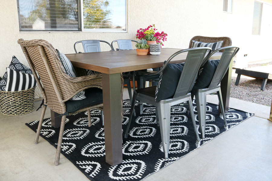 Black White Modern Farmhouse Patio Decor