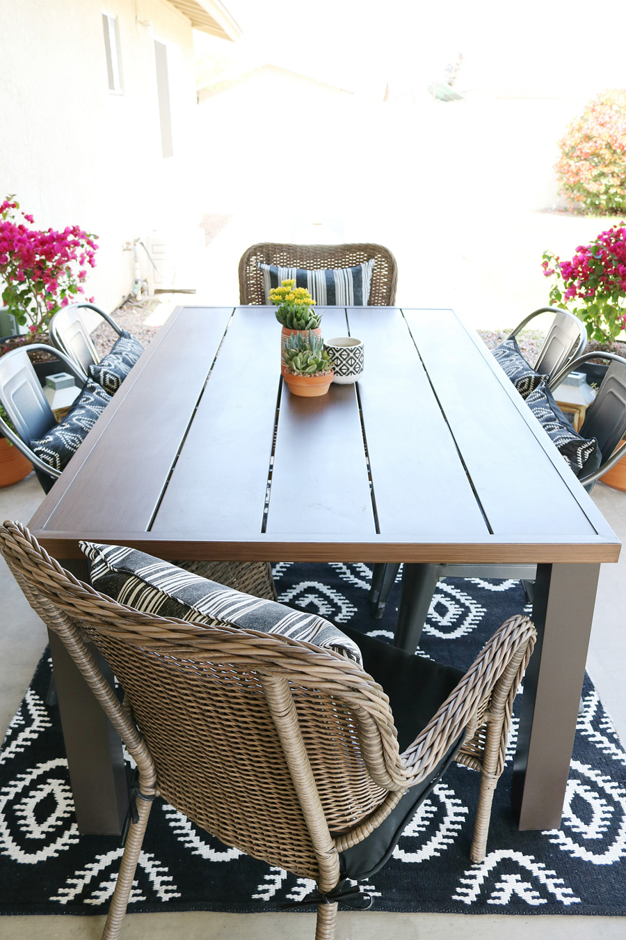 Black Amp White Modern Farmhouse Patio Decor