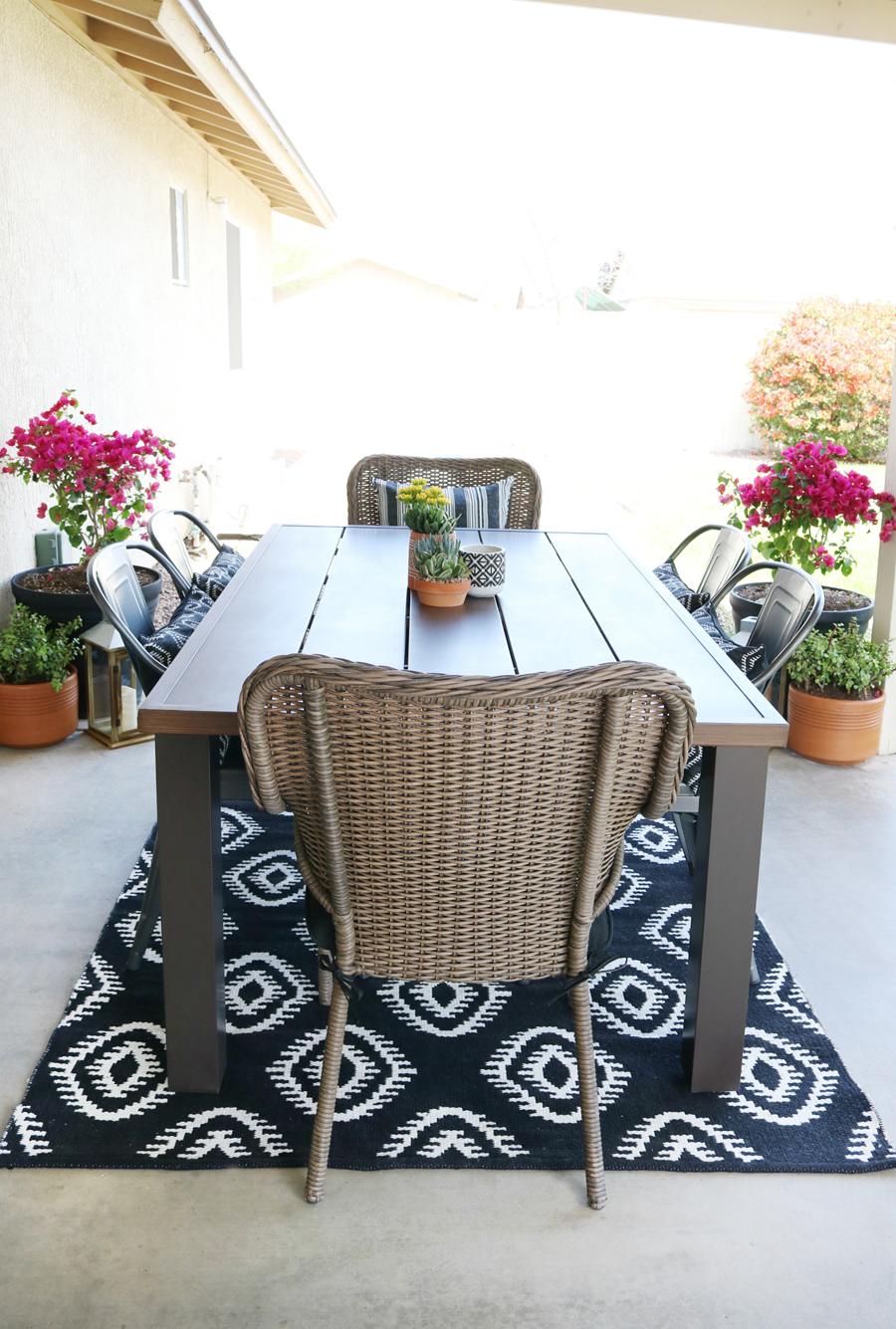 Black & White Modern Farmhouse Patio Decor