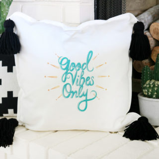 Create a fun throw pillow with Cricut Iron-On Decals in 15 minutes
