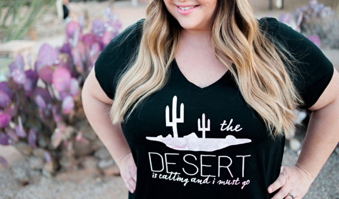 DIY The Desert is Calling T-Shirt with Cricut Patterned Iron-On