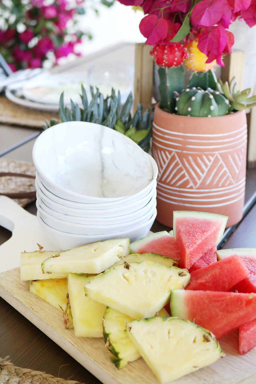 BHG Live Better marbled melamine berry bowls are perfect for outdoor entertaining.