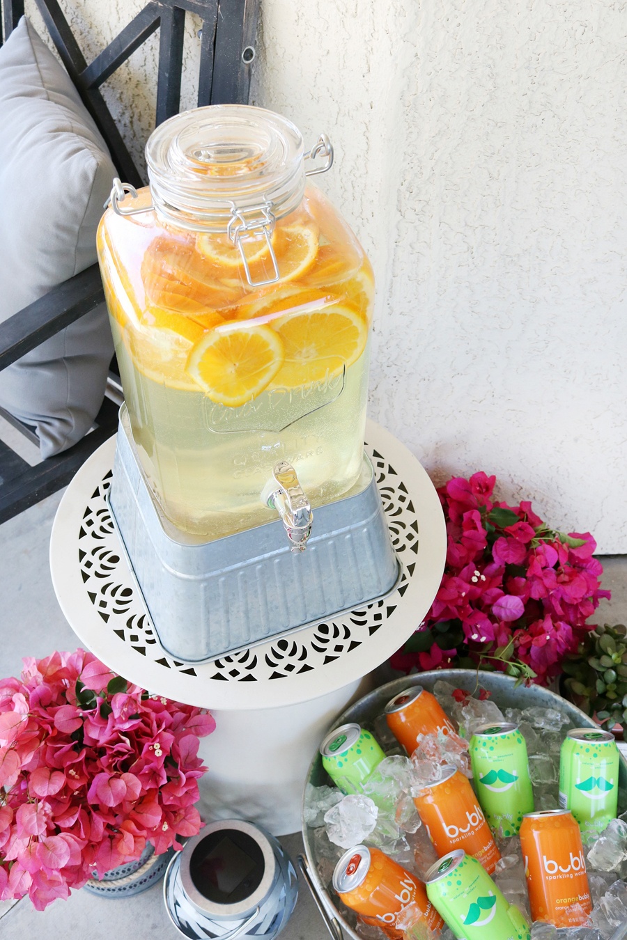BHG Live Better drink dispensers make great decor and easy beverages for your guests when entertaining outdoors.