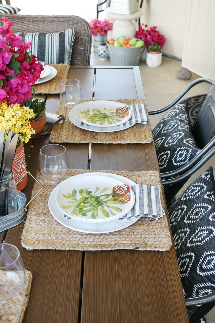 BHG Live Better Melamine Dinnerware, Outdoor Pillows, And A Farmhouse Inspired  Table.