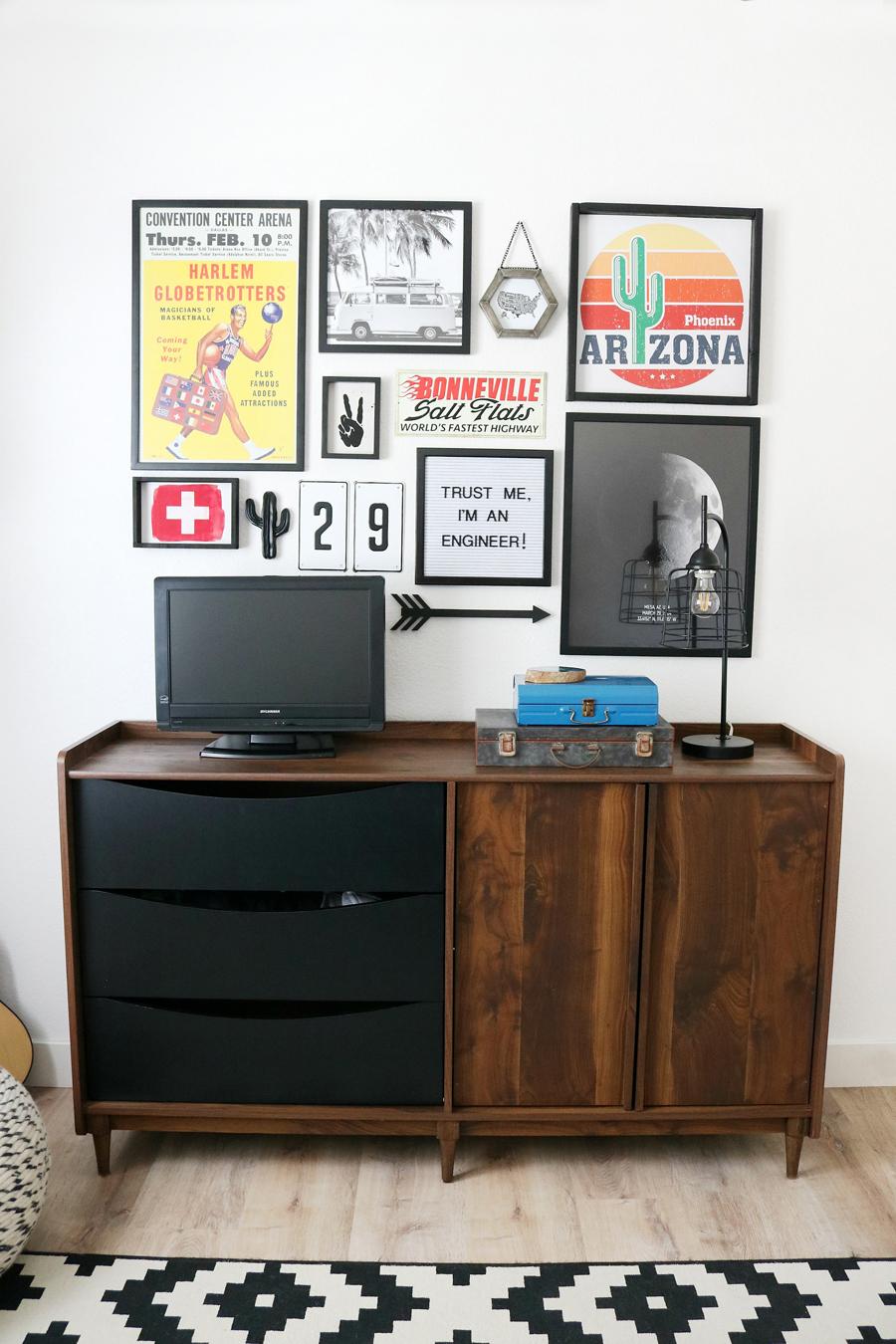 Teen Boy's Room Decor - Gallery Wall