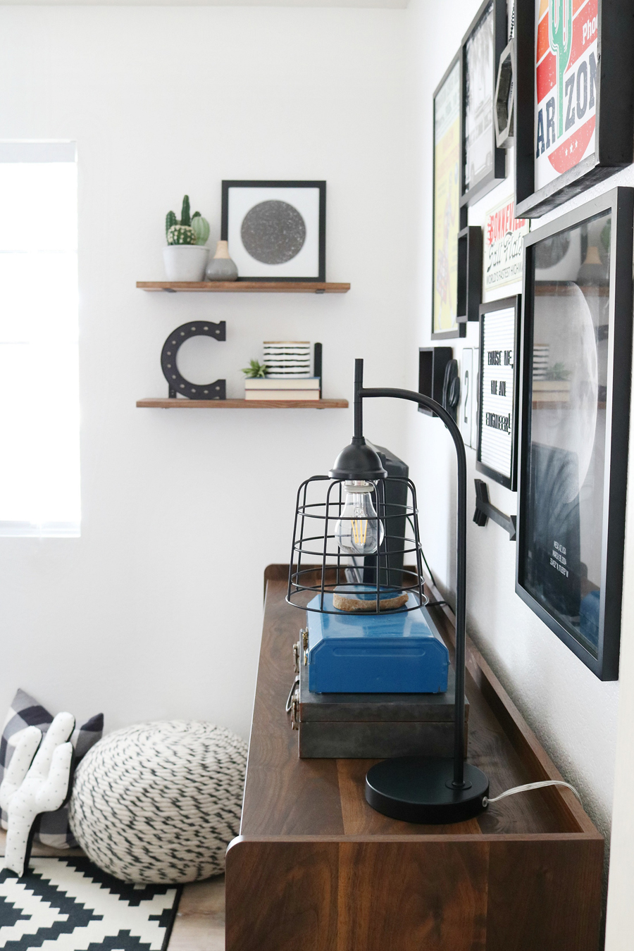 Teen Boy's Room Decor - Wall Shelves