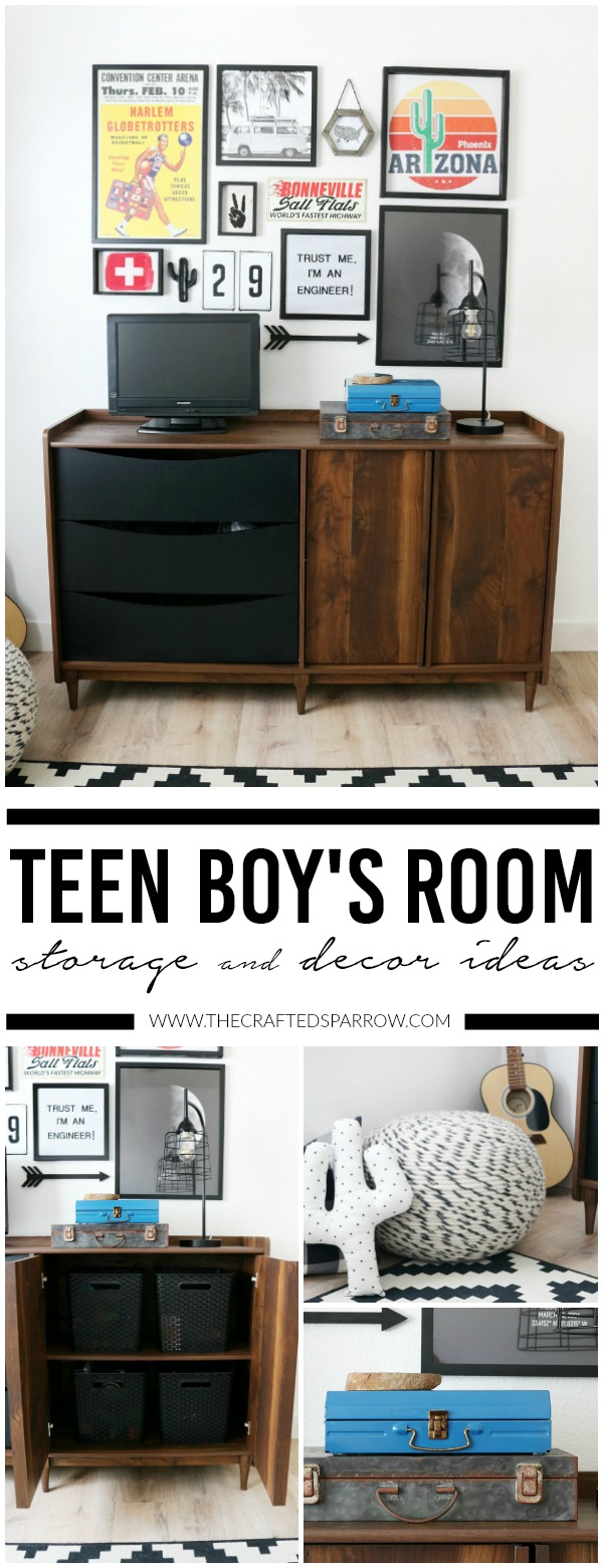 Teen Boys Room Storage & Decor Ideas