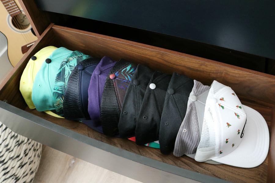 Teen Boy's Room Storage Solutions - hat storage