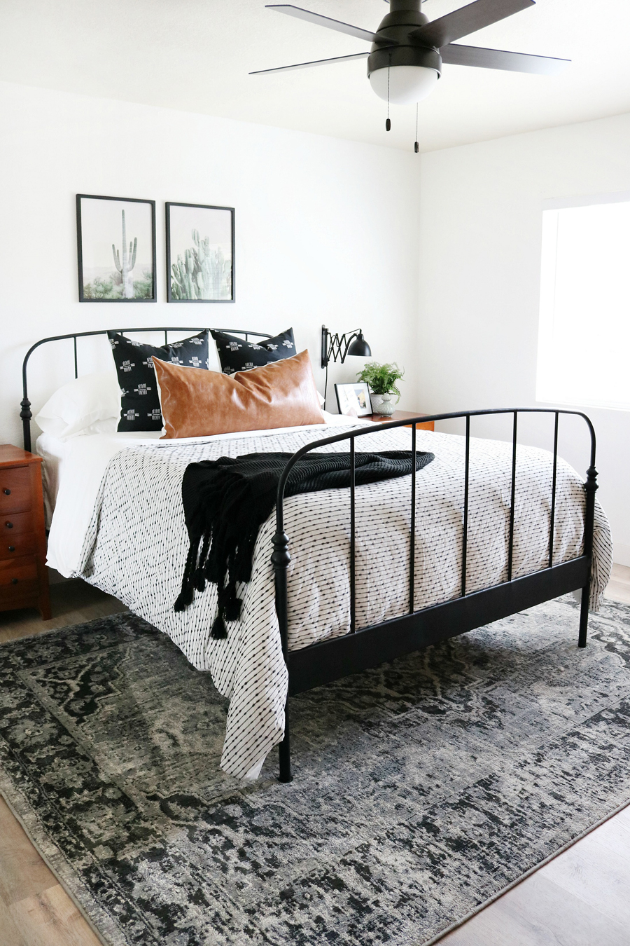 Black White Boho Inspired Bedroom Makeover
