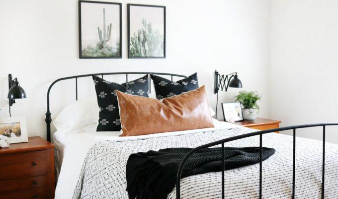 Black & White Boho Inspired Bedroom Makeover