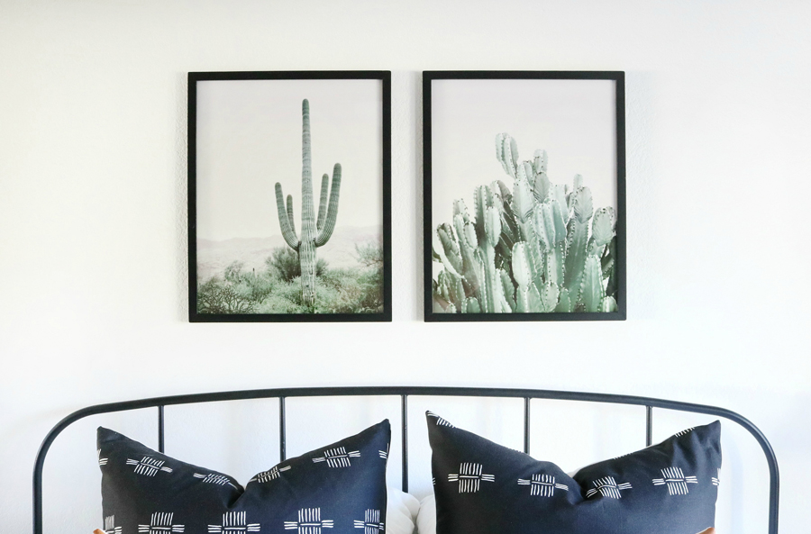 Boho Inspired Artwork with Cactus Prints from Etsy
