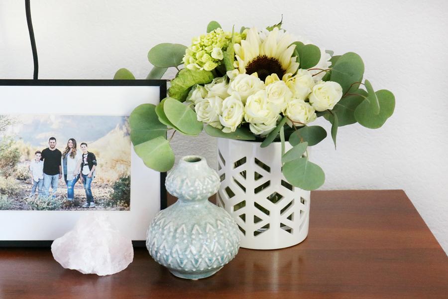 Boho Inspired Decor with Better Homes & Gardens White and Gold Ceramic Hurricane