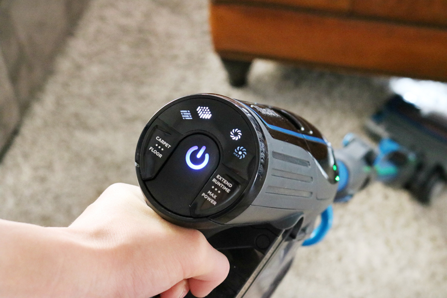 Shark IONFlex 2X DuoClean Cordless Ultra-Light Vacuum Settings