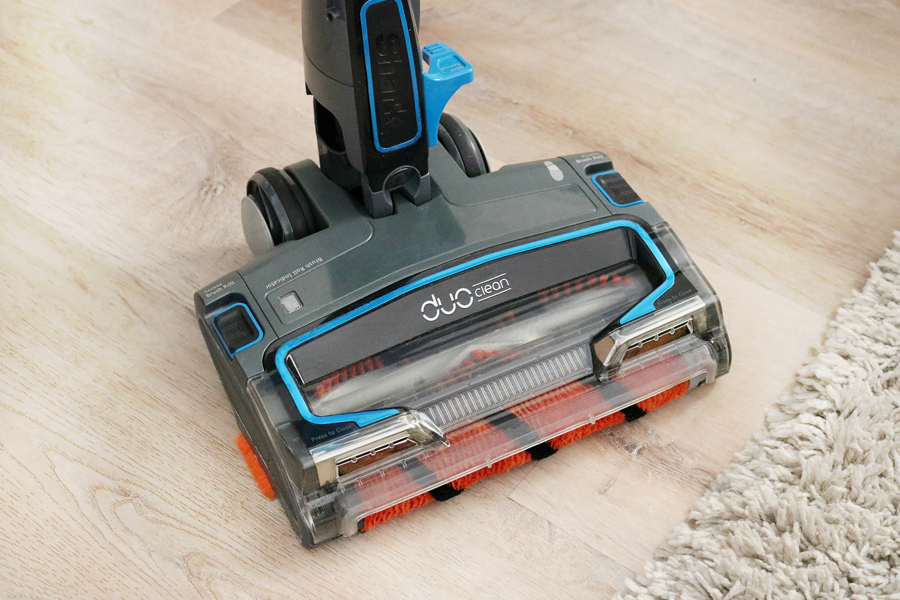 Shark IONFlex Cordless Ultra-Light Vacuum with a soft brush roll that helps to pull debri and dirt in.
