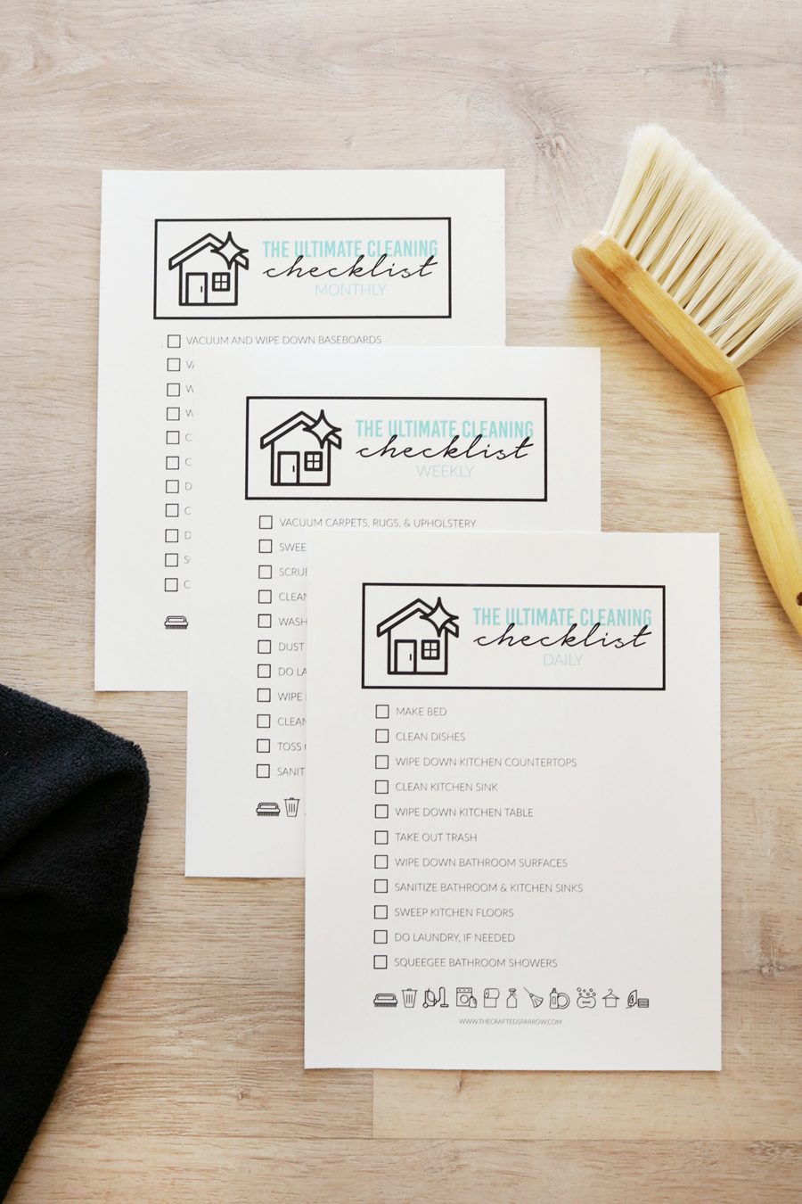 The Ultimate Cleaning Checklist - Free Printable Checklists