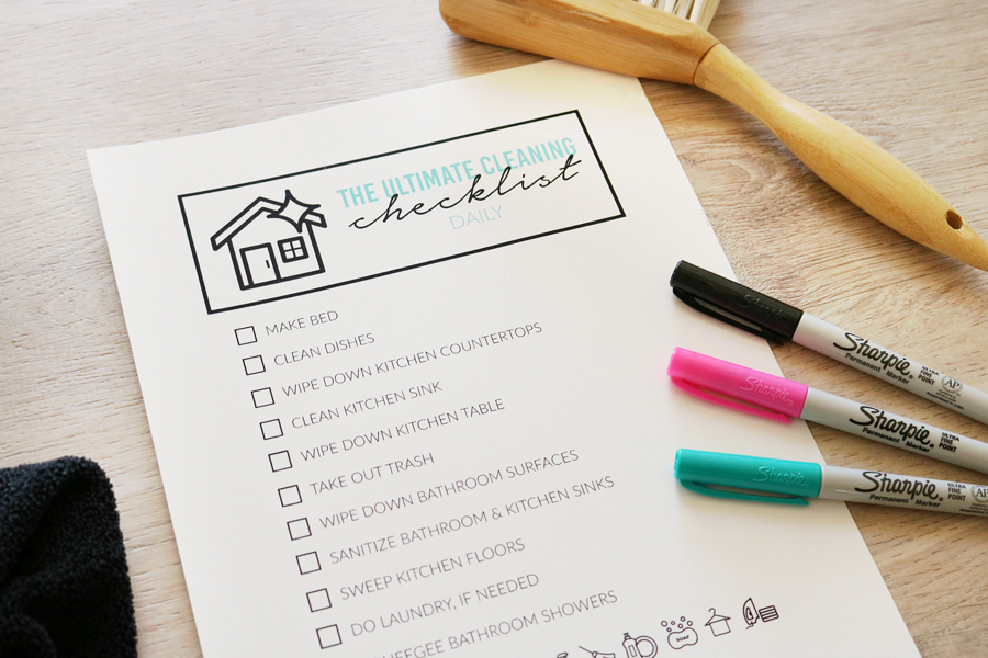 The Ultimate Cleaning Checklist - Free Printables