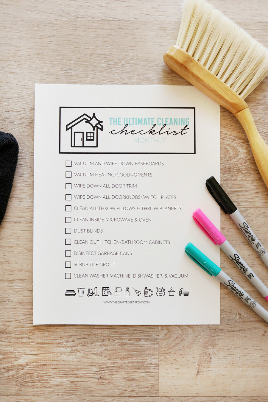 The Ultimate Cleaning Checklist - Montly Printable Checklists