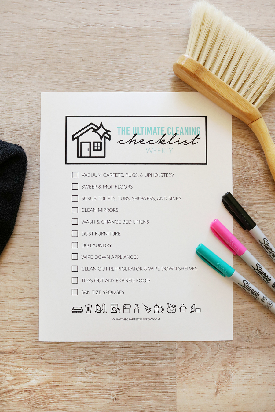 The Ultimate Cleaning Checklist - Weekly Printable Checklists